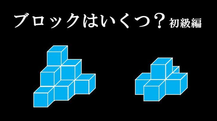 【30秒で全問解けたら高校理系レベル】立体パズルに挑戦!ブロックは全部でいくつ?初級編【空間認識能力】