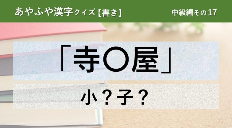 意外と間違える!あやふや漢字クイズ!【書き】中級編 その17