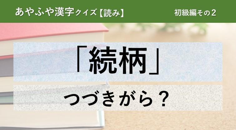 意外と間違える!あやふや漢字クイズ!【読み】初級編 その2
