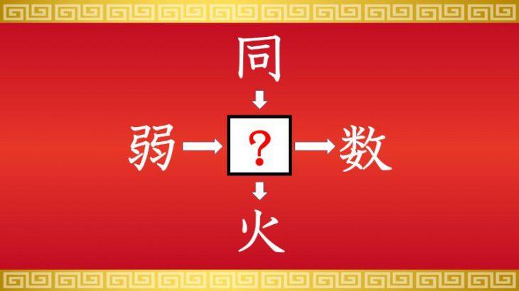 思いつくとスッキリ!虫食い漢字クイズ その36
