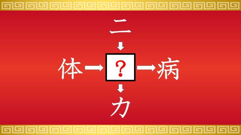思いつくとスッキリ!虫食い漢字クイズ その72
