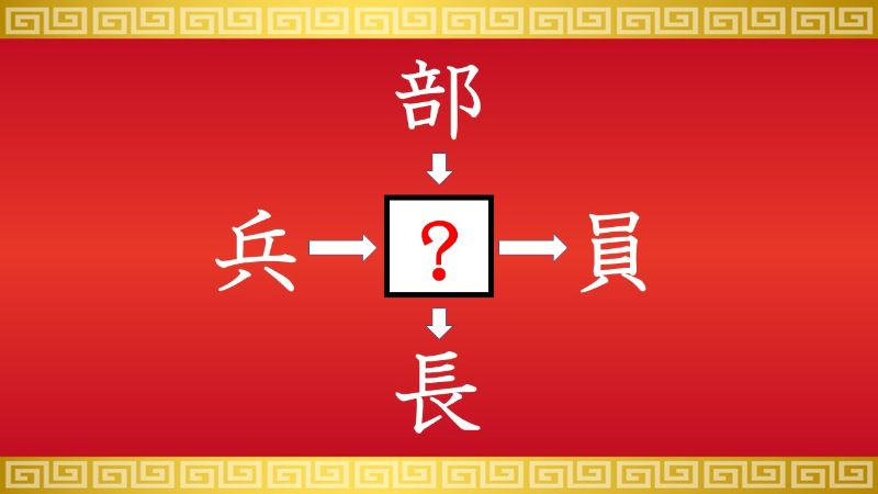 思いつくとスッキリ!虫食い漢字クイズ その156