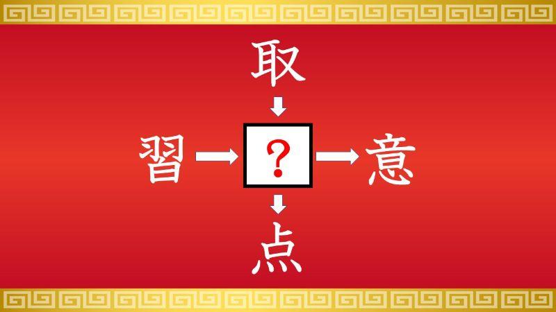 思いつくとスッキリ!虫食い漢字クイズ その198