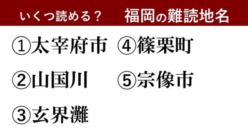 【激ムズ】福岡県民にしか分からない!?難読地名クイズ