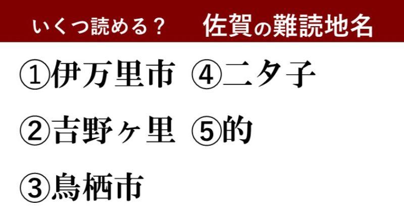 【激ムズ】佐賀県民にしか分からない!?難読地名クイズ