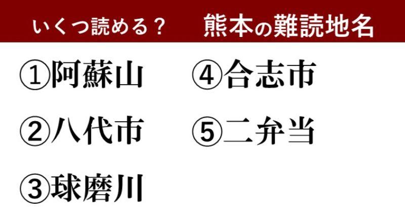 【激ムズ】熊本県民にしか分からない!?難読地名クイズ